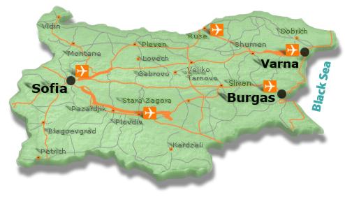 Болгария карта берега
